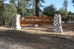 Idyllwild Nature Center sign