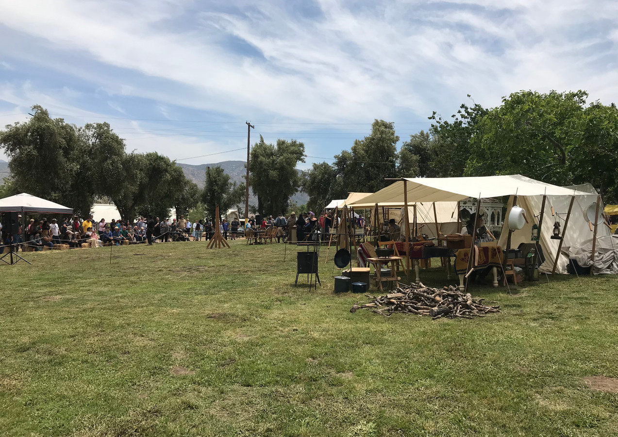 Old west re-enactment at Gilman