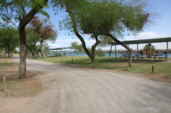 Picnic areas at Mayflower Park
