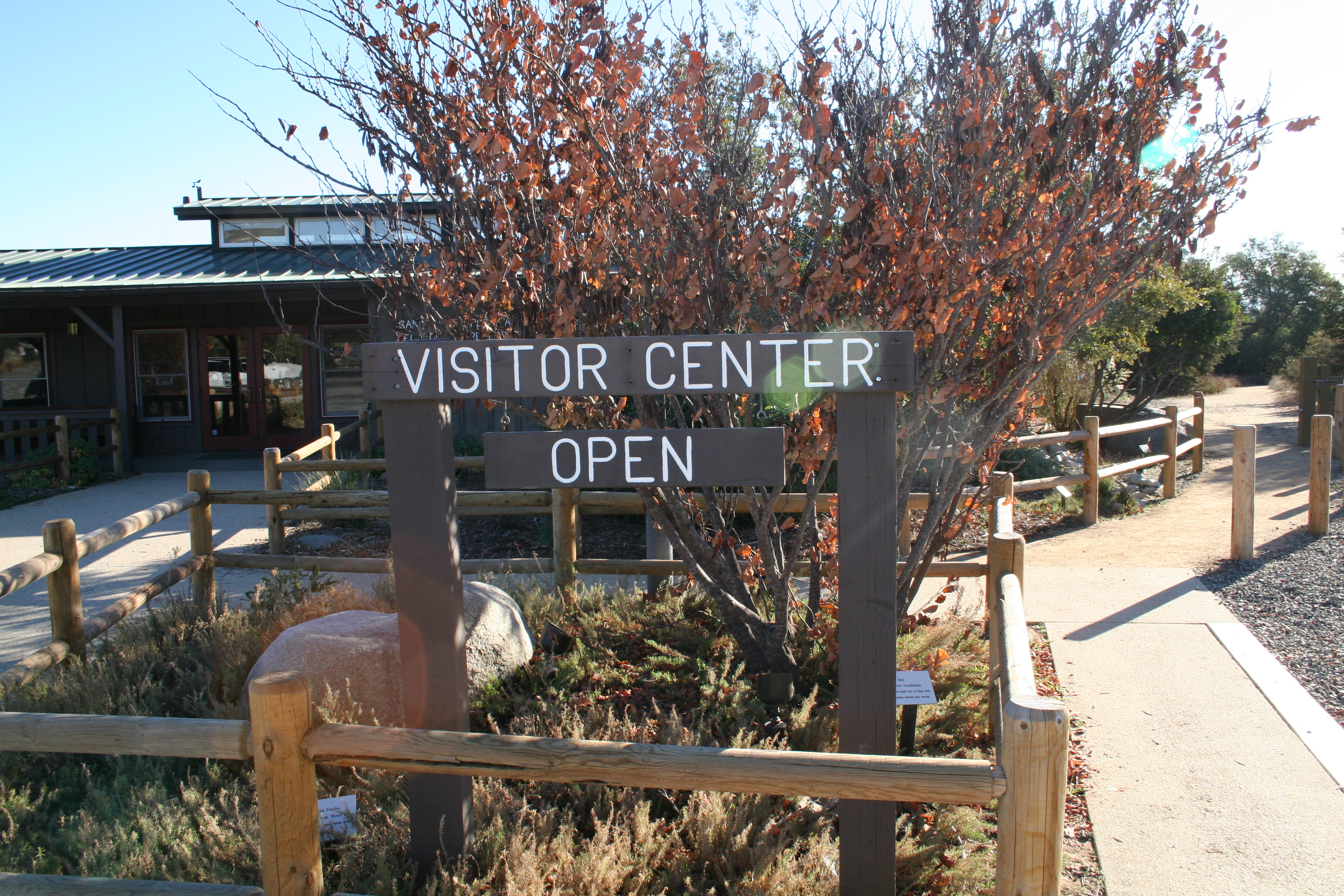 Visitor Center welcome sign