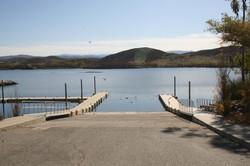 Boat launch at Lake Skinner