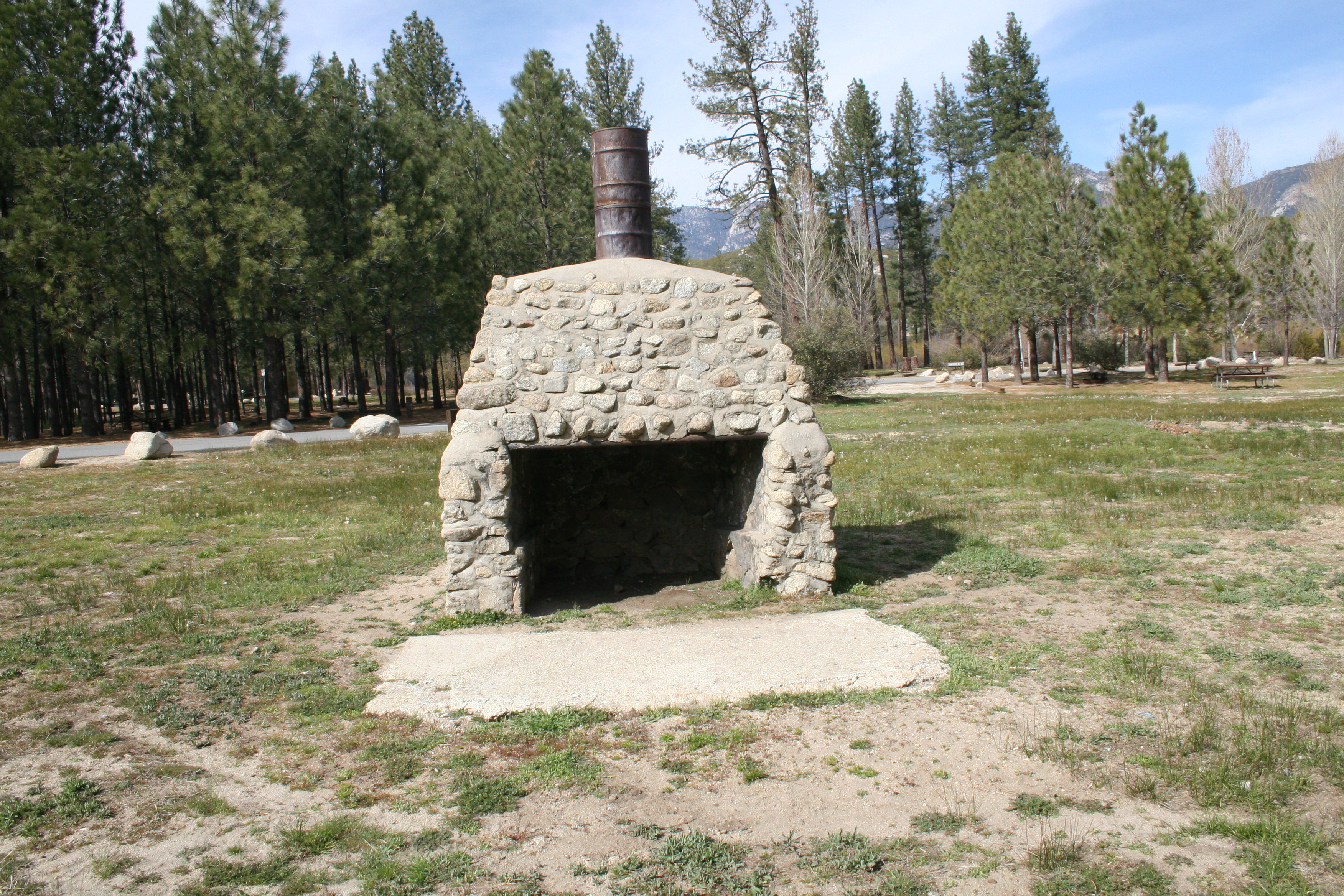 Old stone structure at Hurkey Creek