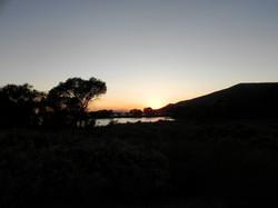 Sunset at Lake Skinner