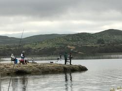 Fishing at Lake Skinner