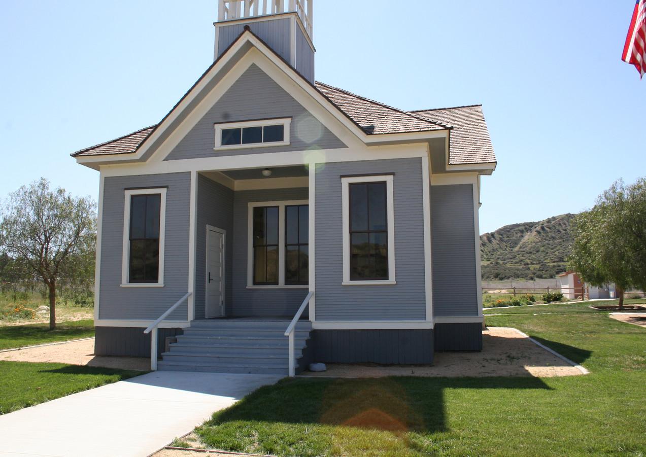 Historic schoolhouse exterior