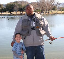 Dad w/son at RJ Lake fishing