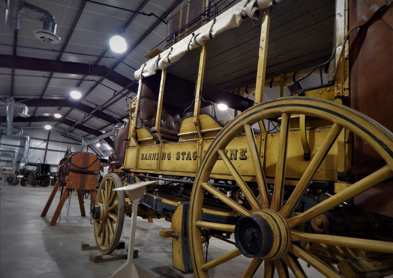 Banning stagecoach at Gilman