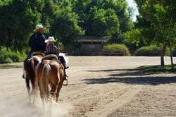 Equestrian riders at Hidden Valley