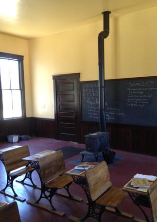 Historic schoolhouse interior