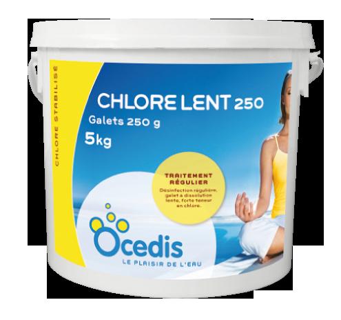 Chlore lent 250 - galets 250g