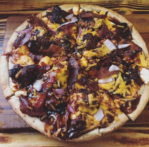 Wild turkey pizza