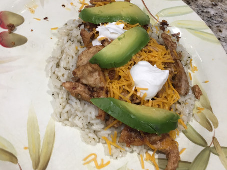 Mexican Style Grouse with Cilantro Lime Rice