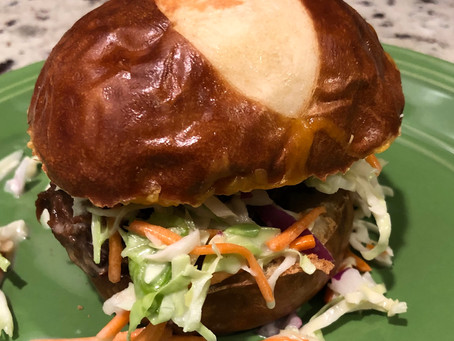 Pulled Wild Game Roast with Sweet Slaw