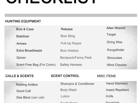 Bowhunting Gear Checklist for Women Hunters
