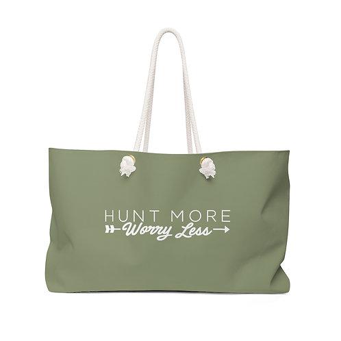 Sage Green Weekender Bag: Hunt More Worry Less