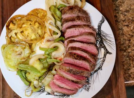 Venison with Sautéd Vegetables
