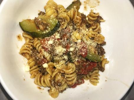 6-Ingredient Wild Game and Zucchini Pasta