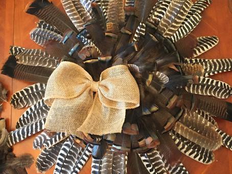 Wild Turkey Feather Wreath Tutorial