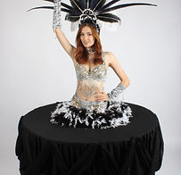 Strolling Table - Showgirl - Black and S