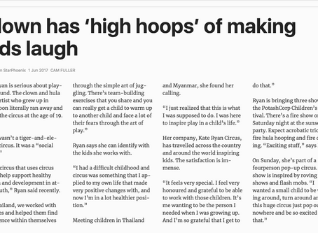 "Clown has ""High Hoops"" of making kids laugh"