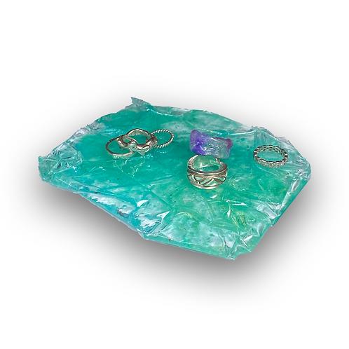 'the bottom of my green bag' trinket tray