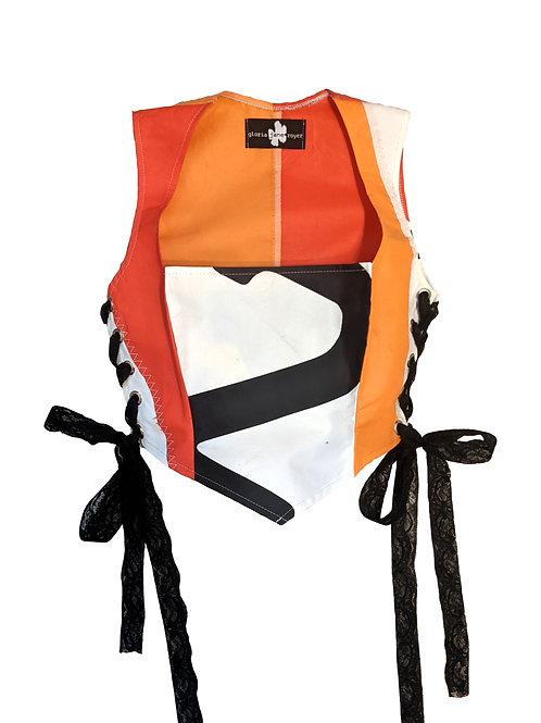 peach/red sail corset (larger bust)