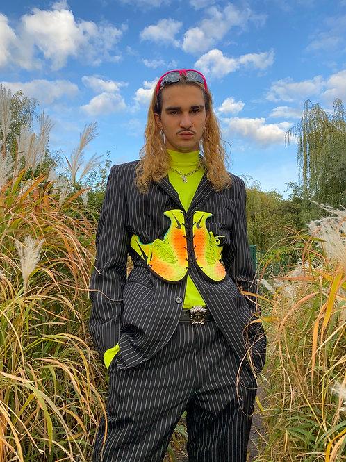 yellow/orange sneaker corsage
