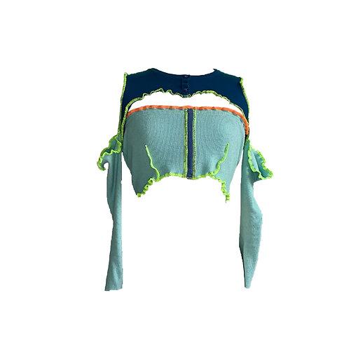 neon dream cold shoulder top