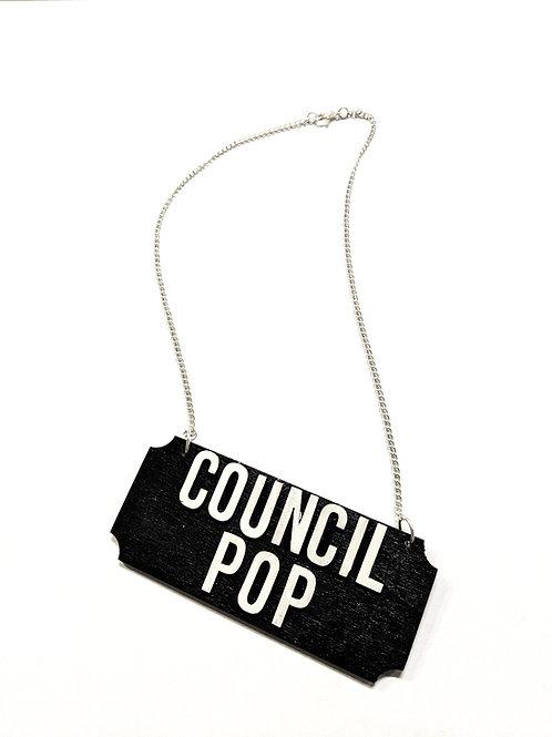 'council pop' necklace