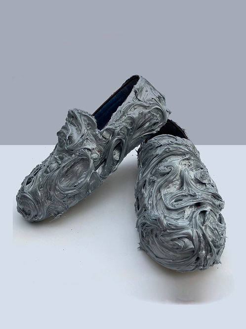 melted iron shoes