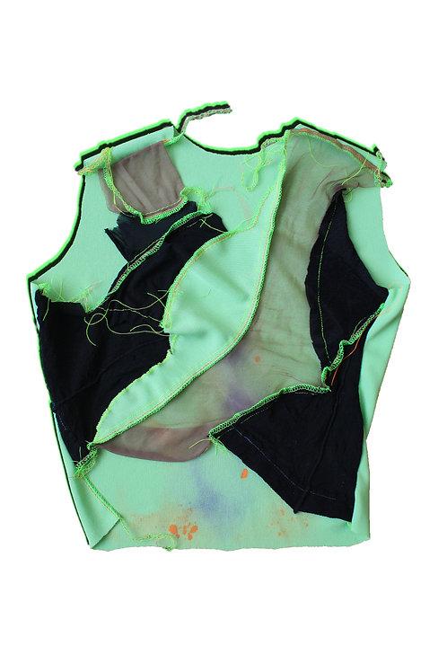 holey tights sleeveless top