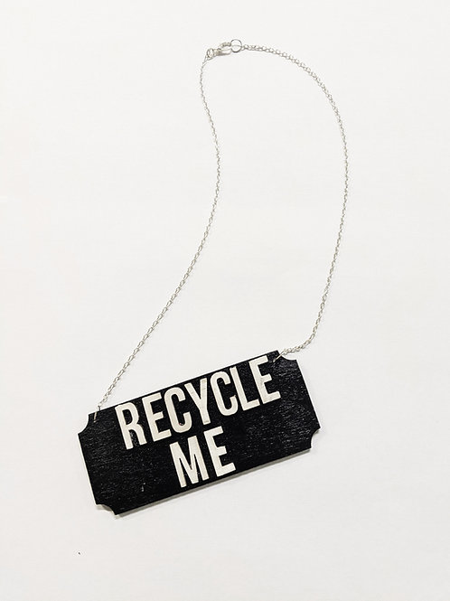 'recycle me' necklace