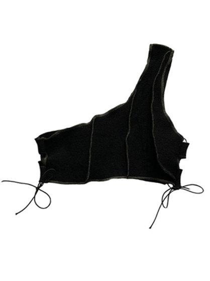 off-shoulder natural knit