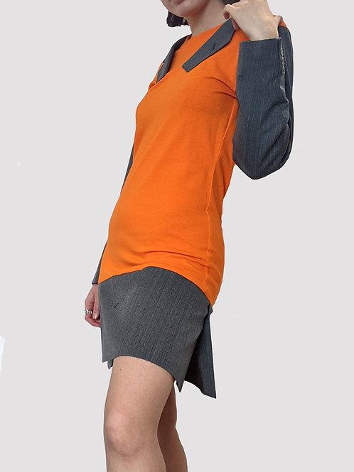 orange blazer tee