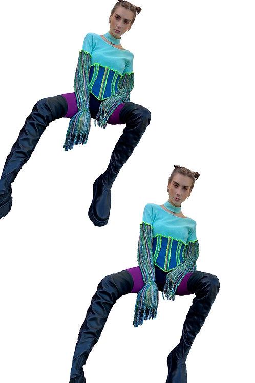 aqua waves corset top
