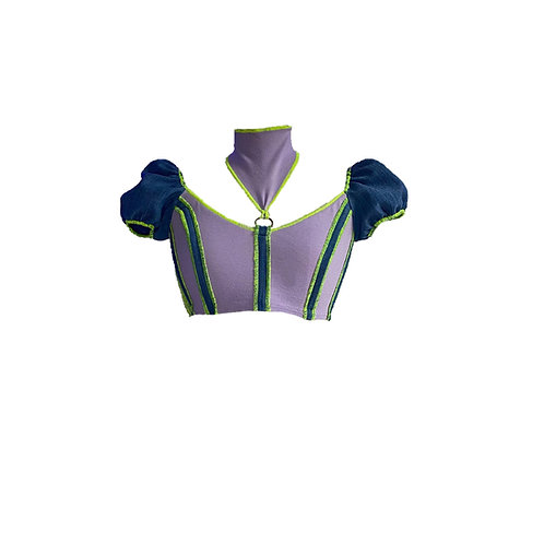 lilac maid corset top