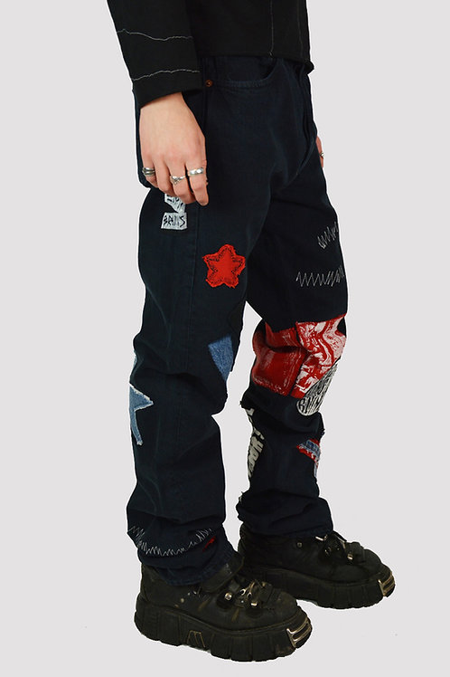 Patched Protest Jeans
