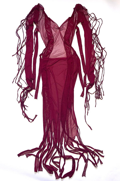 """""""Blood of blood"""" tie up gown"""