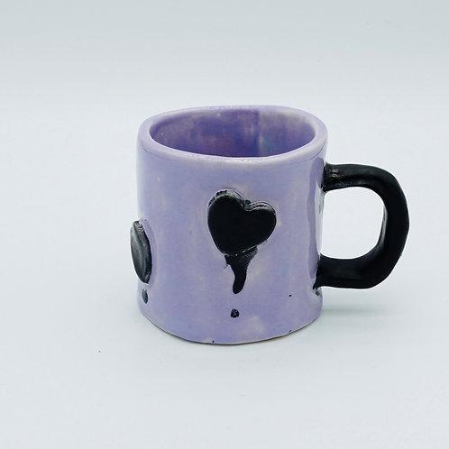 purple love mug