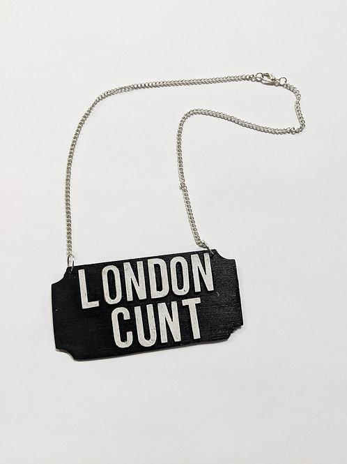 'london cunt' necklace