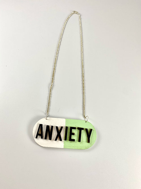 anxiety pill necklace