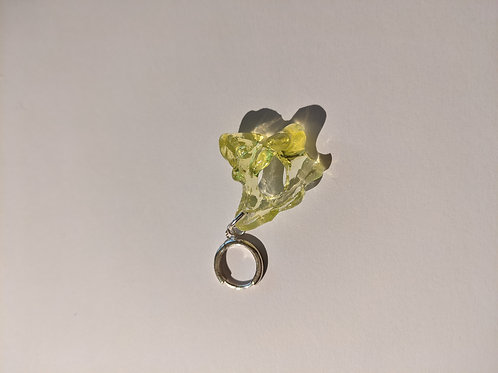 yellow protoplasm earring