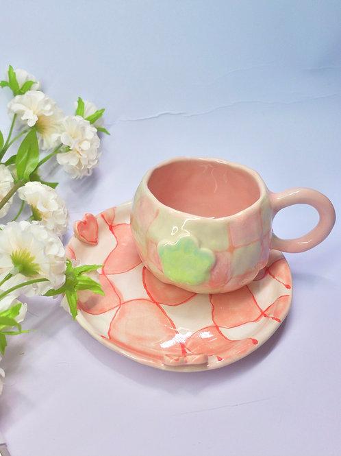 Peach Checker Cup