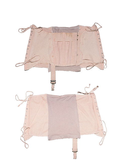 recycled peach corset