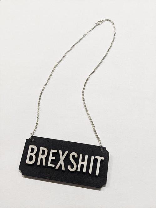 'brexshit' necklace