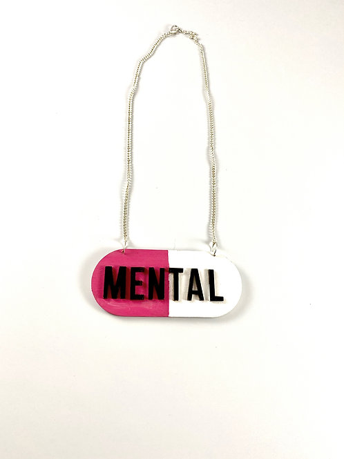 mental pill necklace