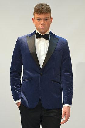 dinner jacket velvet blauw