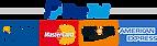 Moyen de paiement, Paypal, Visa, Mastercard, Discover, American express