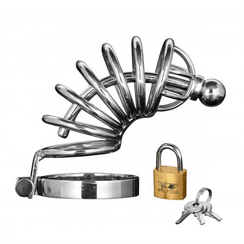 ASYLUM - RINGS LOCKING CHASTITY CAGE