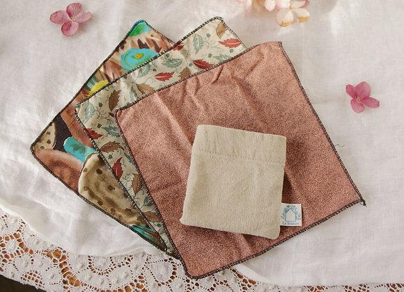 Mouchoirs lavables (3) avec pochette